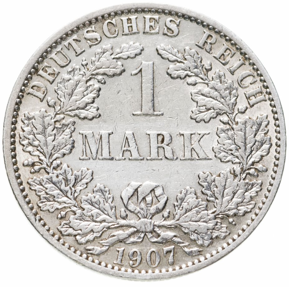 """купить Германия, Германская Империя 1 марка 1907 """"А"""" - Берлин"""