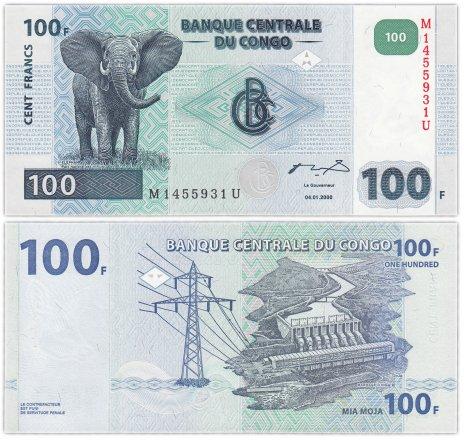 купить Конго 100 франков 2000 (Pick 92) ПРЕСС