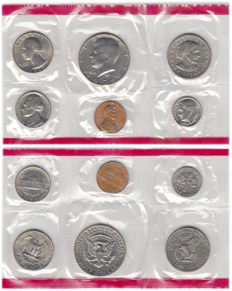 """купить США годовой набор из 6-и монет 1, 5, 10 центов и 1/4, 1/2 и 1 доллар (cent, dollar)  1979 Знак монетного двора """"D"""""""