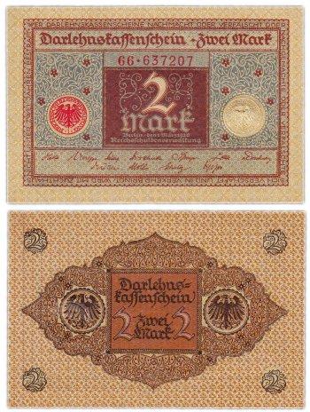 купить Германия 2 марки 1920 (Pick 60)