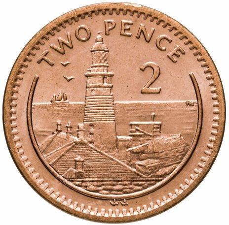 купить Гибралтар 2 пенса 2001