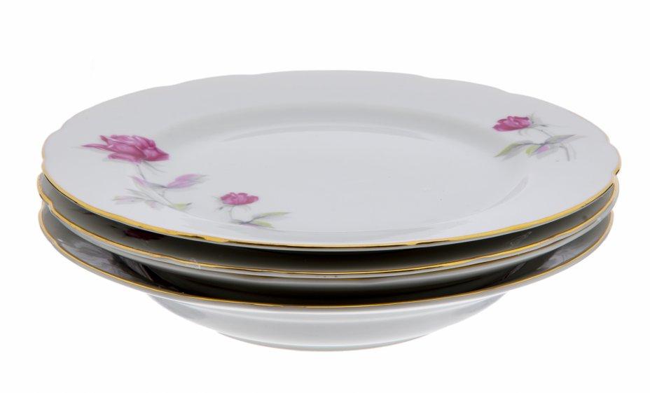 """купить Набор тарелок на 2 персоны (4 предмета), фарфор, деколь, роспись, золочение, мануфактура """"Tono China"""", Япония, 1990-2000 гг."""