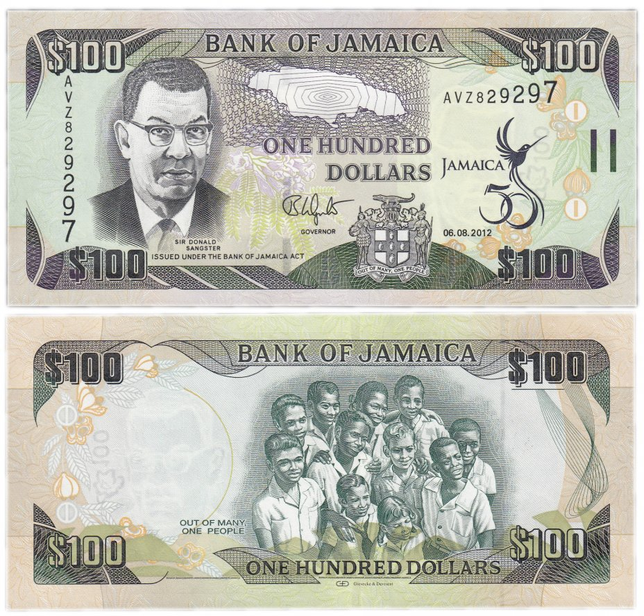 купить Ямайка 100 долларов 2012 (Pick 90) (50 летие независимости)