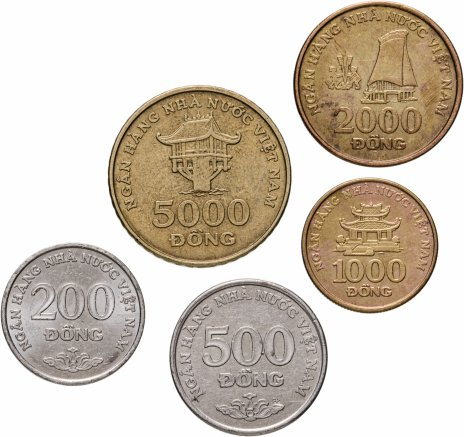 купить Вьетнам, набор из 5 монет 2003 года