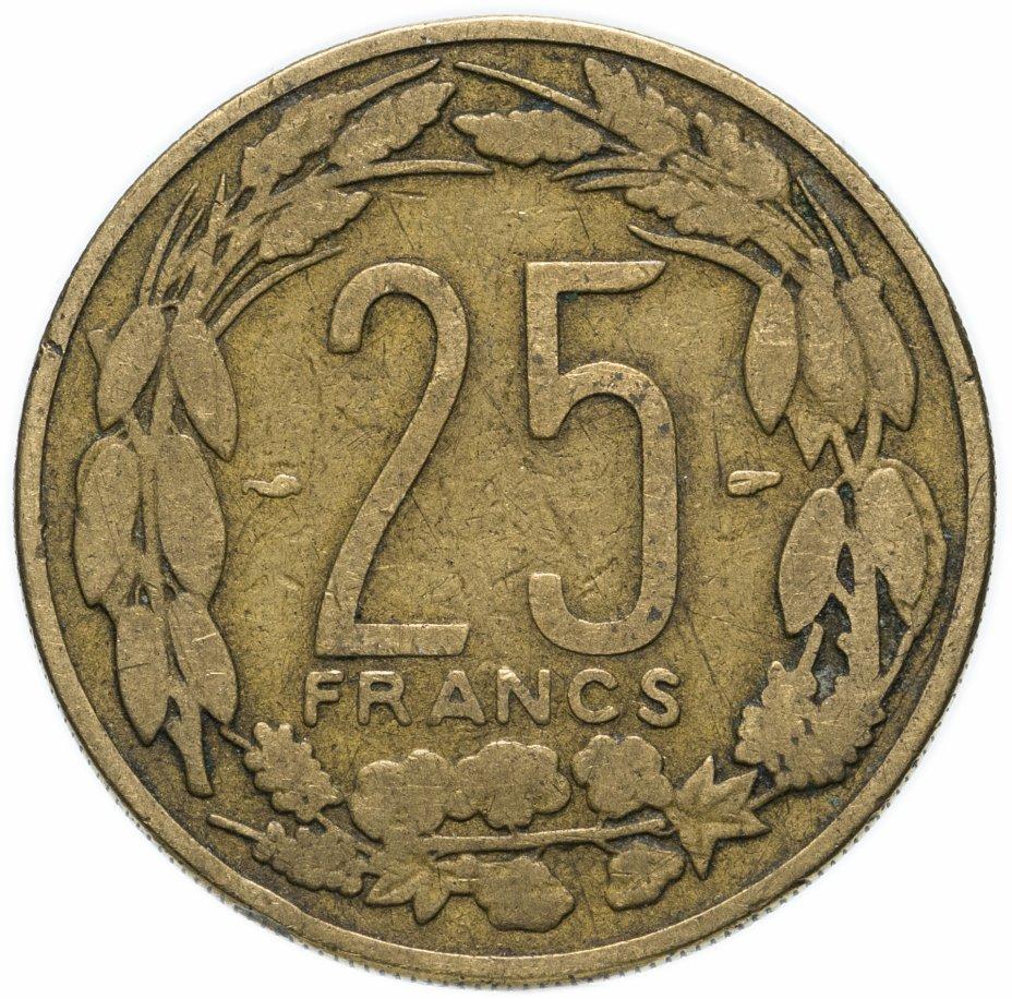 купить Французская Экваториальная Африка, Камерун 25 франков (francs) 1958