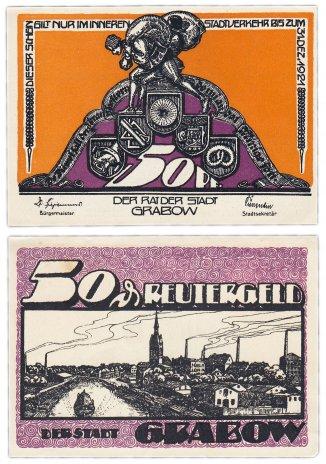 купить Германия (Мекленбург-Шверрин: Грабов) 50 пфеннигов 1921 (460.1/B1)