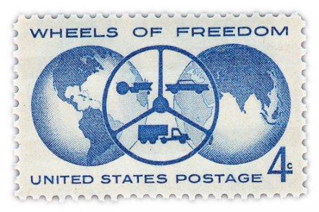 """купить США 4 цента 1960 """"Колеса свободы"""""""