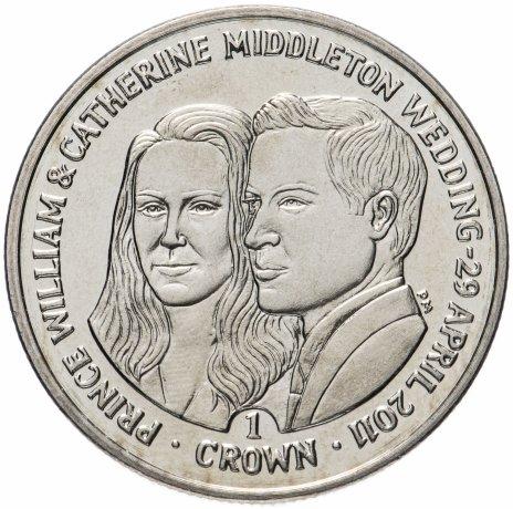 купить Фолклендские острова 1 крона 2011 Свадьба Принца Уильяма и Кэтрин Миддлтон