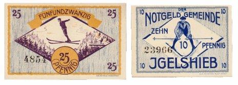 купить Германия (Тюрингия: Игельшиб) набор из 2-х нотгельдов 1921
