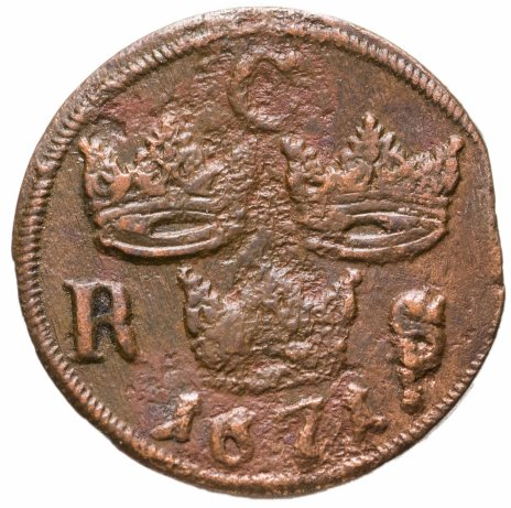 купить Швеция 1/6 эре (ore) 1671