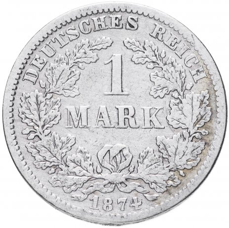 """купить Германия 1 рейх марка 1874 """"F"""""""