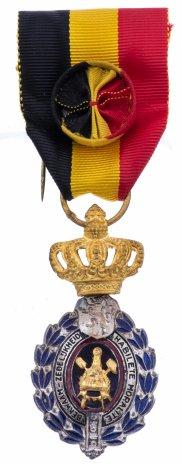 купить Медаль Бельгия «За трудовое отличие» 1 класса «в золоте» в футляре