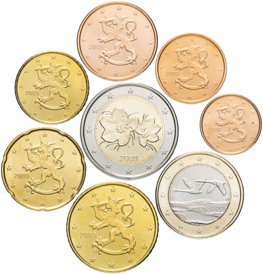 купить Финляндия годовой набор евро 2009 (8 монет, мешковые)