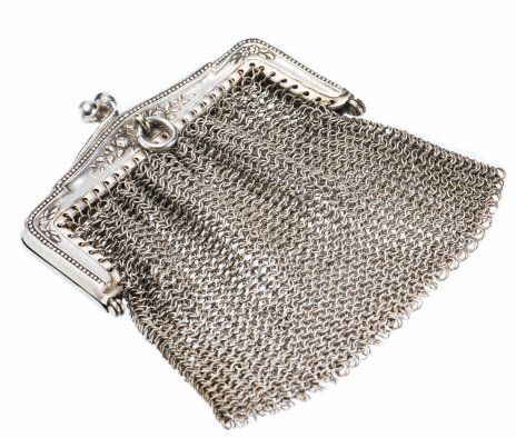 купить Кошелек дамский в стиле ар-нуво, никель с посеребрением, Германия, 1920-1940 гг.