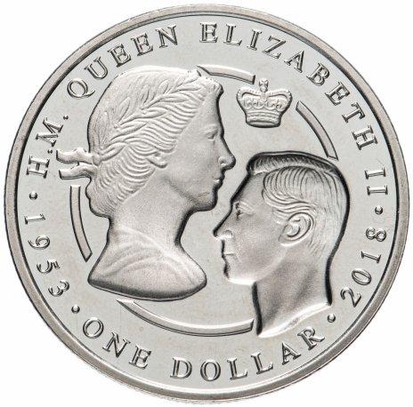 купить Британские Виргинские острова 1 доллар 2018 Сапфировый юбилей коронации Елизаветы II