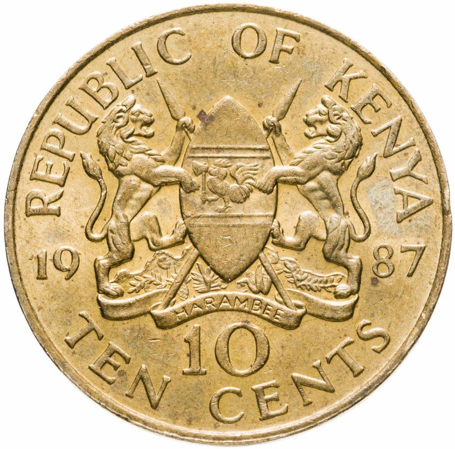 купить Кения 10 центов (cents) 1987