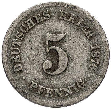 купить Германия, Германская империя 5 пфеннигов 1874-1889, случайная дата