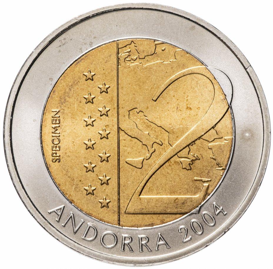 купить Андорра пробные 2 евро 2004 Церковь