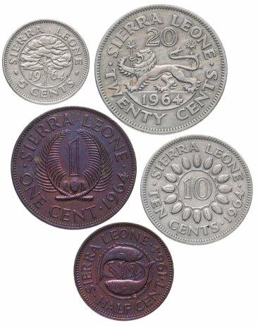 купить Сьерра-Леоне набор из 5 монет 1964