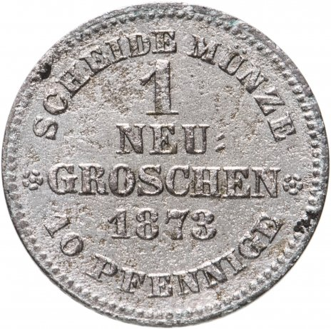 купить Германия (Саксония) 1 неугрошен 1873