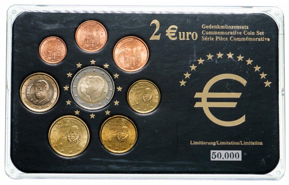 купить Испания набор из 8 монет  1999-2014, в футляре