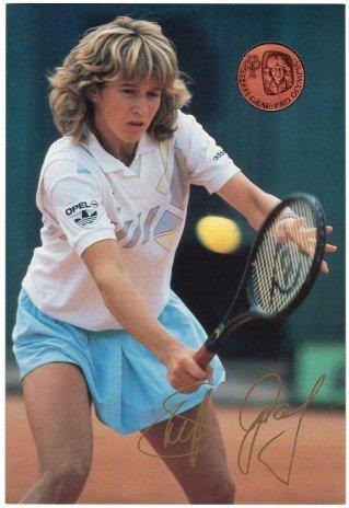 """купить Жетон """"Олимпиада Сеул - 1988"""" Теннис. Штеффи Граф в буклете"""