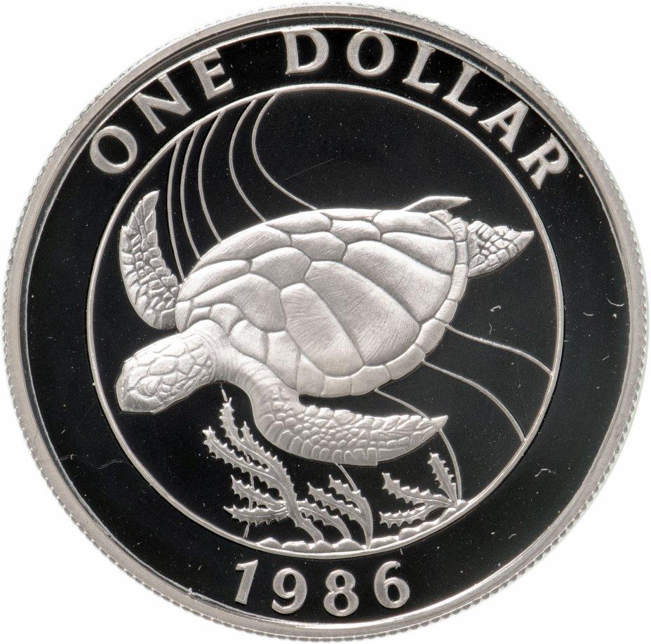 """купить Бермудские острова 1 доллар 1986 """"Черепаха"""""""
