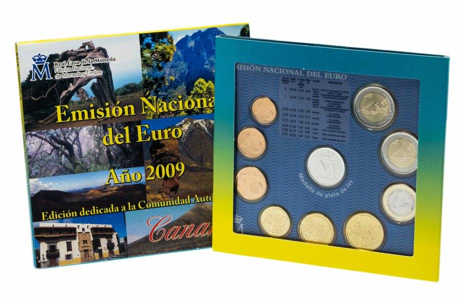 купить Испания  годовой набор монет евро 2009 (9 штук, UNC в официальном буклете Cantabria с жетоном)