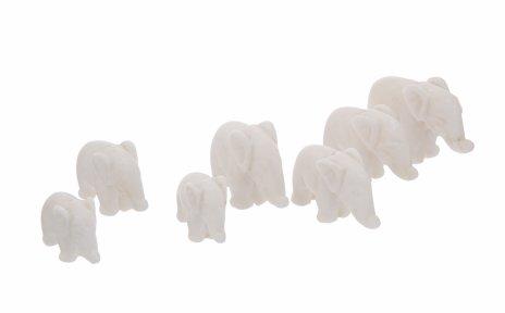 """купить Набор статуэток """"7 слонов"""", мрамор, резьба, СССР, 1970-1990 гг."""