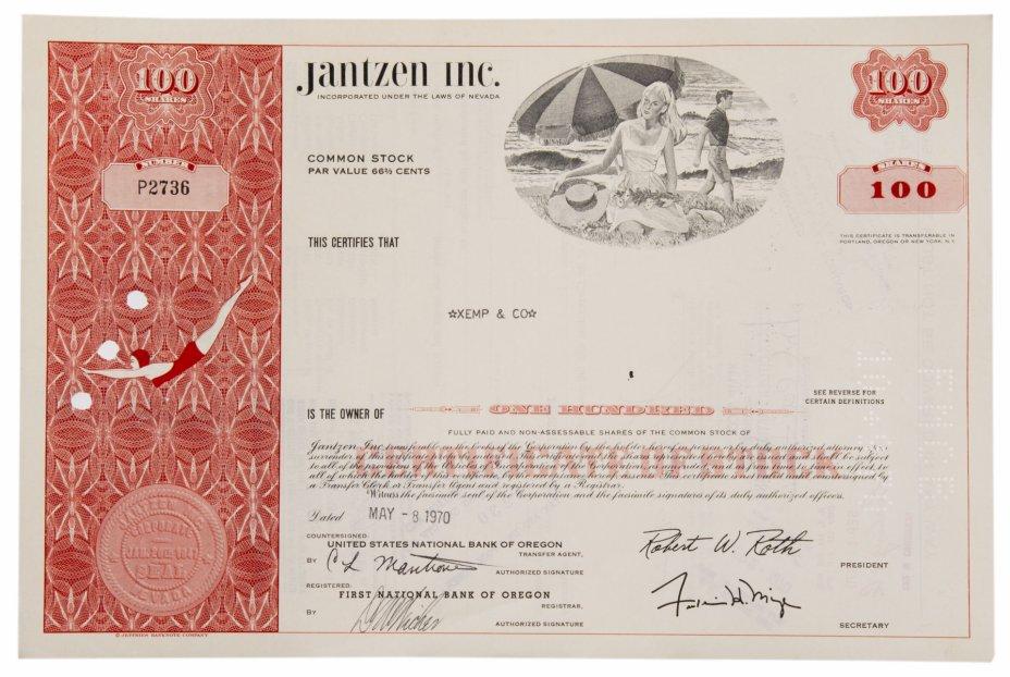 купить Акция США Janzen Inc. , 1970 г.