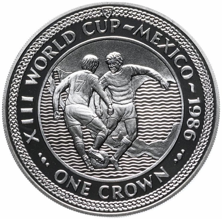 купить Остров Мэн 1 крона (crown) 1986 Чемпионат мира по футболу 1986, Мексика