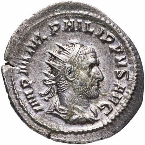 купить Римская империя, Филипп I Араб, 244-249 годы, антониниан (реверс: Рома сидит влево, в руках виктория и копье)