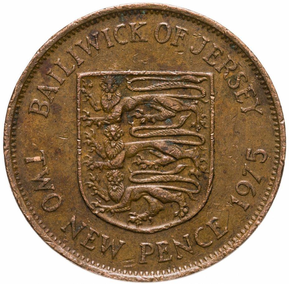 купить Джерси 2 новых пенса (new pence) 1975