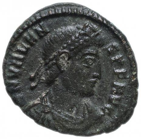 купить Римская Империя Валент II 364–378 гг фоллис ? (реверс: Виктория идет влево, в руках - венок и пальмовая ветвь)