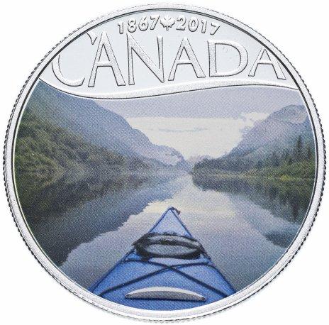 """купить Канада 10 долларов 2017 """"150 лет Конфедерации Канады-Каякинг на реке"""" (с сертификатом)"""