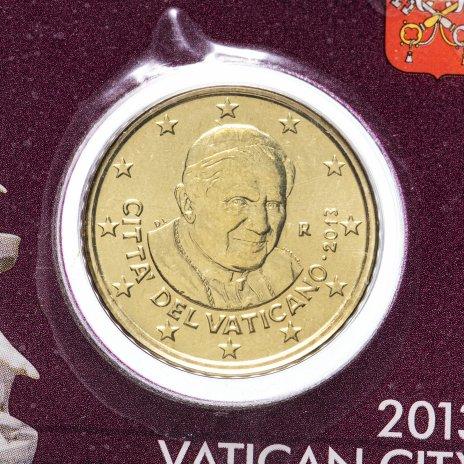 купить Ватикан 2013 50 евро центов на официальной карточке N4