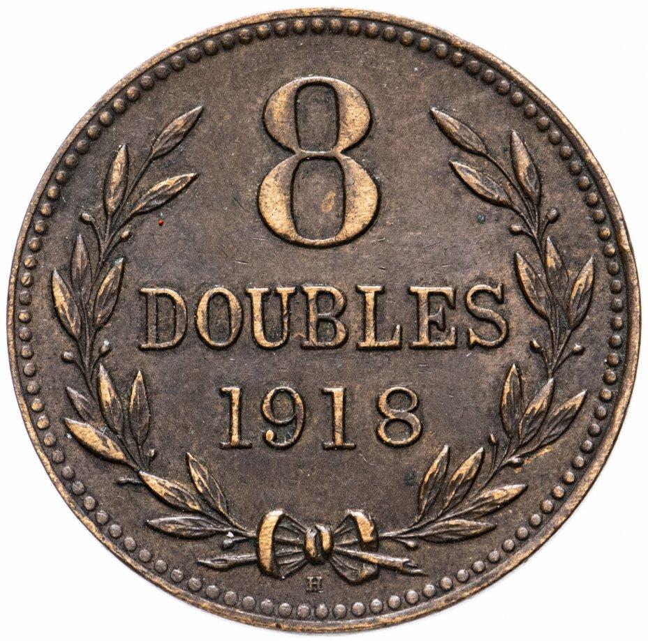 купить Гернси 8 дублей (doubles) 1918