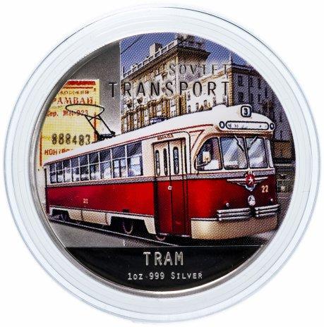 """купить Ниуэ 2 доллара 2010 """"Советский транспорт - трамвай"""""""