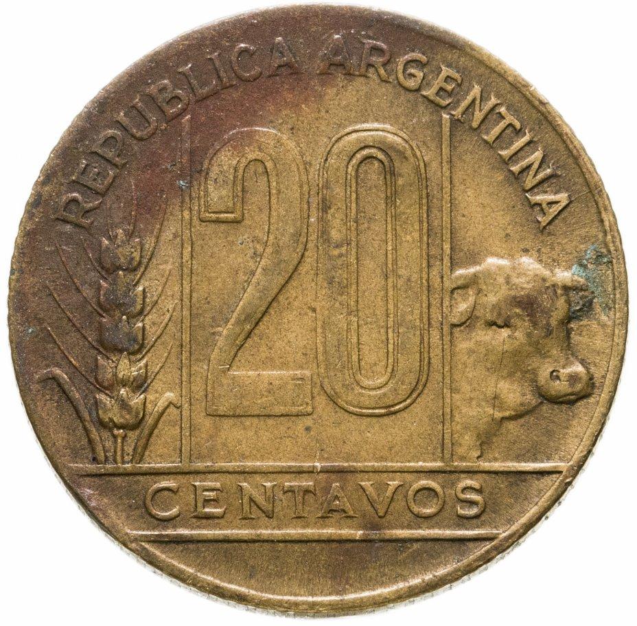купить Аргентина 20 сентаво (centavos) 1949