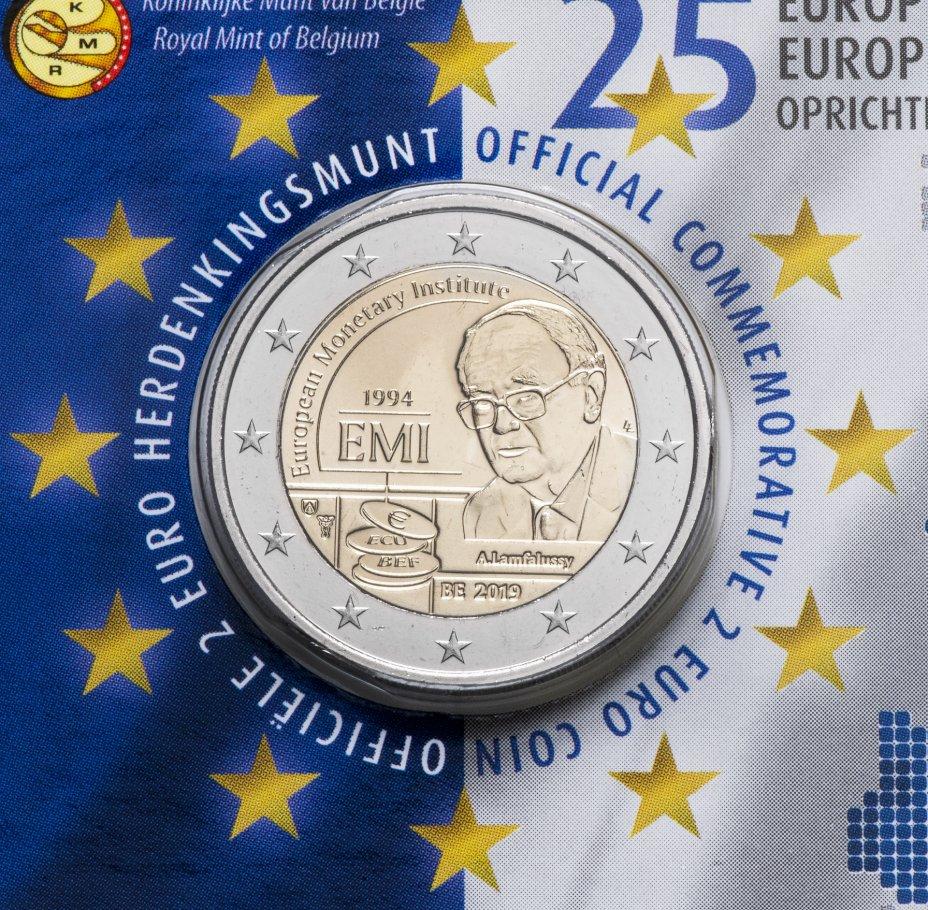 купить Бельгия 2 евро 2019 «25-летие Европейского валютного института», в буклете на нидерландском языке