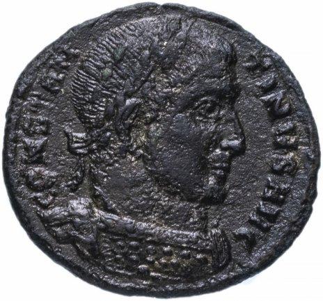 купить Римская Империя Константин I 306–337 гг фоллис (реверс: Виктория идет влево, в руках венок и пальмовая ветвь)