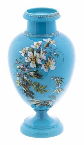 купить Ваза с изображением букета цветов, стекло, эмаль, Российская Империя, 1900-1917 гг.