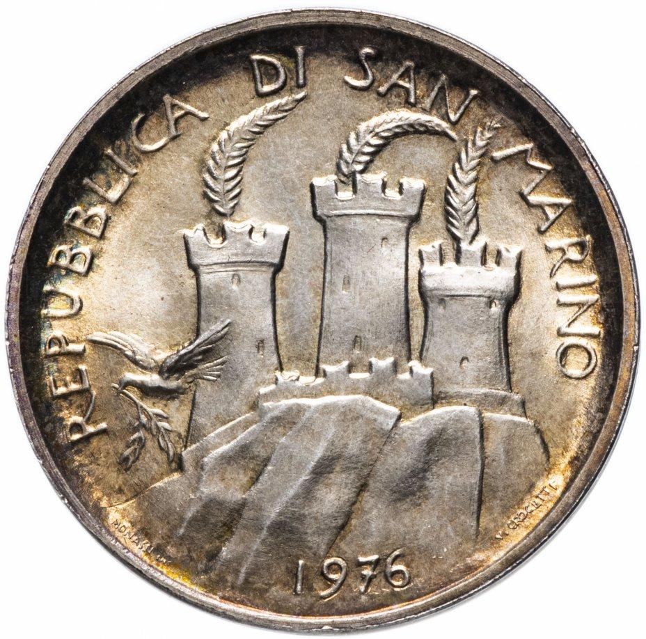 """купить Сан-Марино 500 лир 1976 """"12 лет введению системы социального обеспечения"""""""