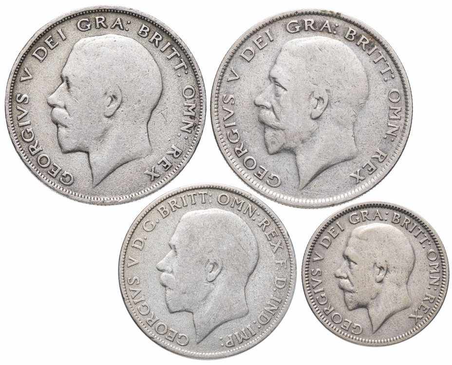 купить Великобритания набор из 4-х монет 1921-1934