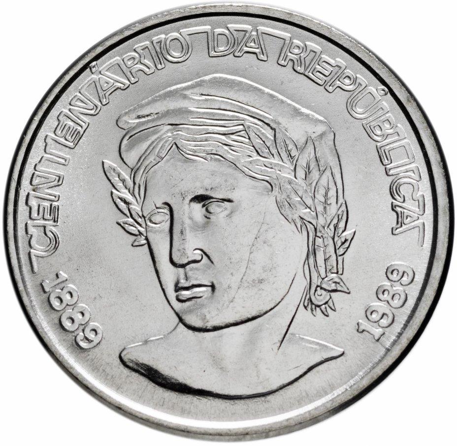 """купить Бразилия 1 новый крузадо (novo cruzado) 1989   """"100 лет Республике"""""""