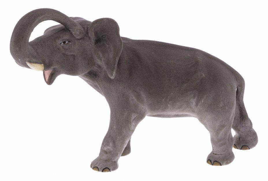 """купить Статуэтка """"Слон"""", роспись, фарфор, бисквит, Западная Европа, 2000-2010 гг."""