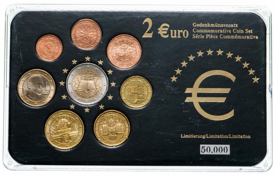 купить Австрия набор из 8 монет евро 2002-2007, в футляре
