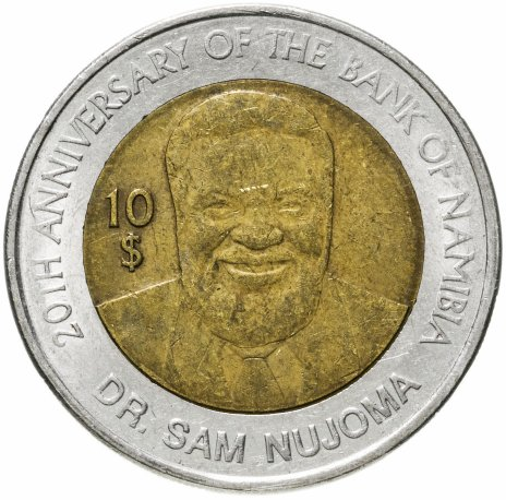 """купить Намибия 10 долларов (dollars) 2010 """"20-летие Банка"""""""