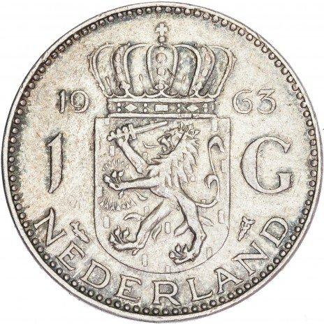 купить Нидерланды 1 гульден 1963