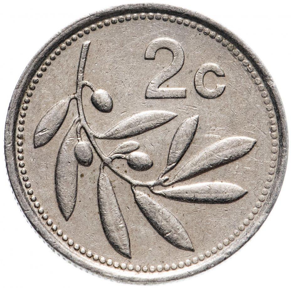 купить Мальта 2 цента (cents) 1986